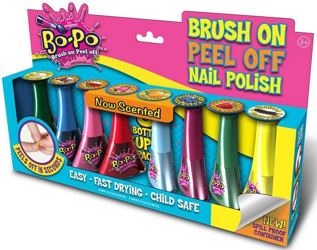 Bo-Po Scented Peel Off Nail Colour Super Pack (8 Pack)