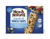Nice & Natural: Superfruits Muesli Bar - Cranberry & Blueberry (180g)
