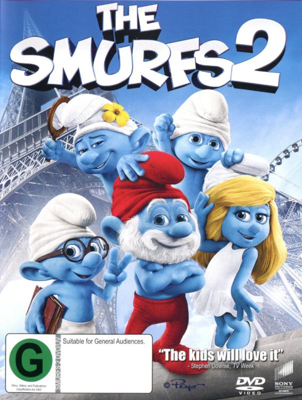 The Smurfs 2 on DVD