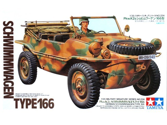 Tamiya 1/35 Schwimmwagen Type 166 - Model Kit image