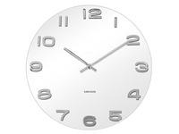 Karlsson Vintage White Glass Wall Clock