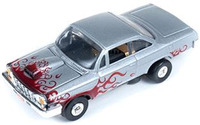 Auto World ThunderJet Ultra-G R8 '62 Chevy Bel Air Slot Car - Silver with Flames