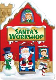 Christmas House Board Book Santa's Workshop Red image