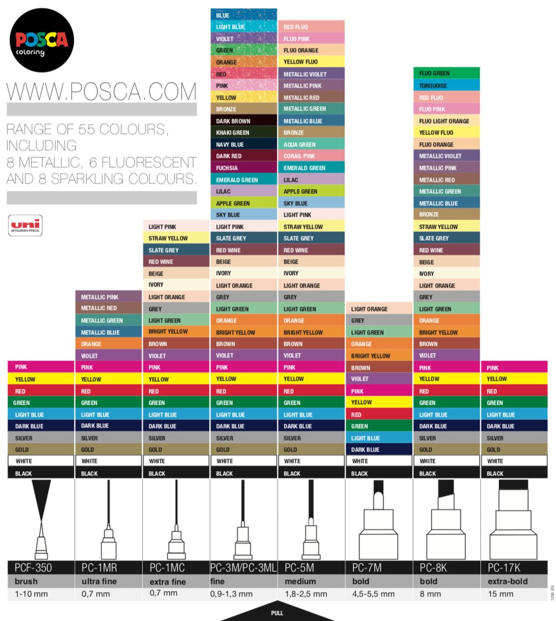 Uni Posca - 8.0mm Bold Chisel Markers image