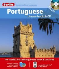 Portuguese Berlitz Phrase Book and CD image