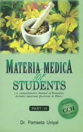 Materia Medica for Students: Part III by Pameeta Uniyal image