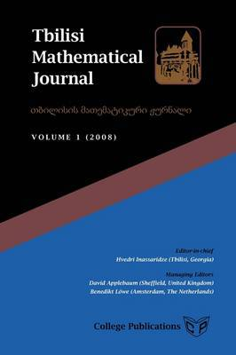 Tbilisi Mathematical Journal. Volume 1 (2008) image