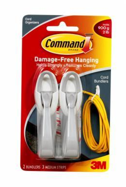 Command Cord Bundlers - White & Grey (2 Pack)