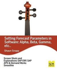 Forecast Parameters in Software by Shaun Snapp