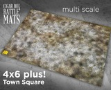 Cigar Box Mat: Town Square (6x4 Plus)