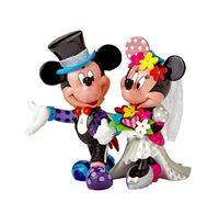 Romero Britto: Mickey & Minnie Wedding Figurine