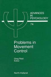 Problems in Movement Control: Volume 74
