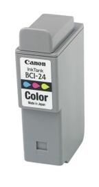 Canon BCI-24C Colour Ink Tank (Dual Pack)  suitable for Canon i250 i320 i350 i450 i455 i470D  S200SP S200SPx S300 S330 iP1