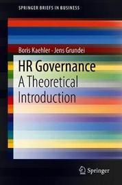 HR Governance by Boris Kaehler