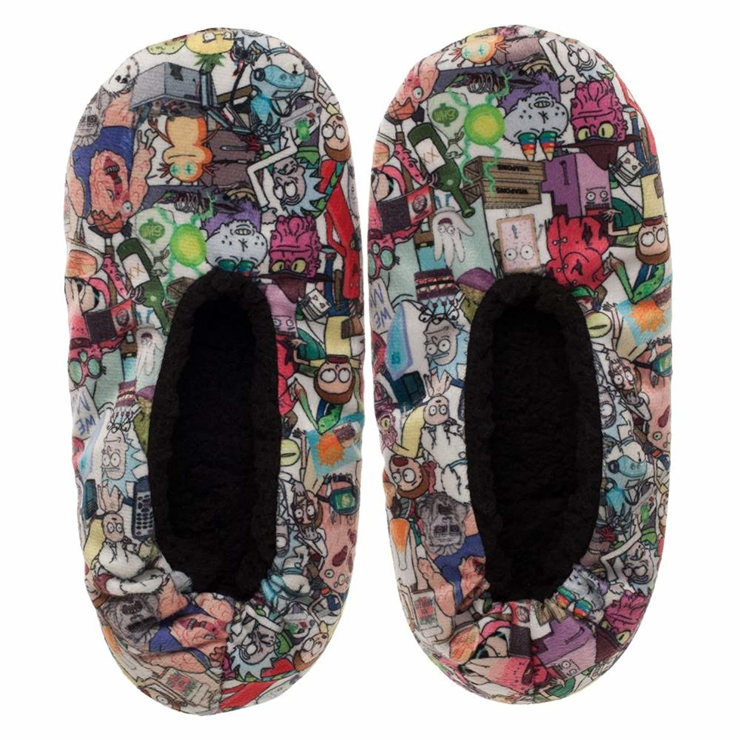 Rick and Morty - Women's Cozeez Slippers -White (S/M) image