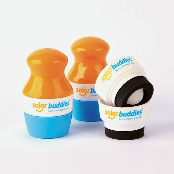 Solar Buddies - Twin Pack with 2 replacement caps - yellow / blue