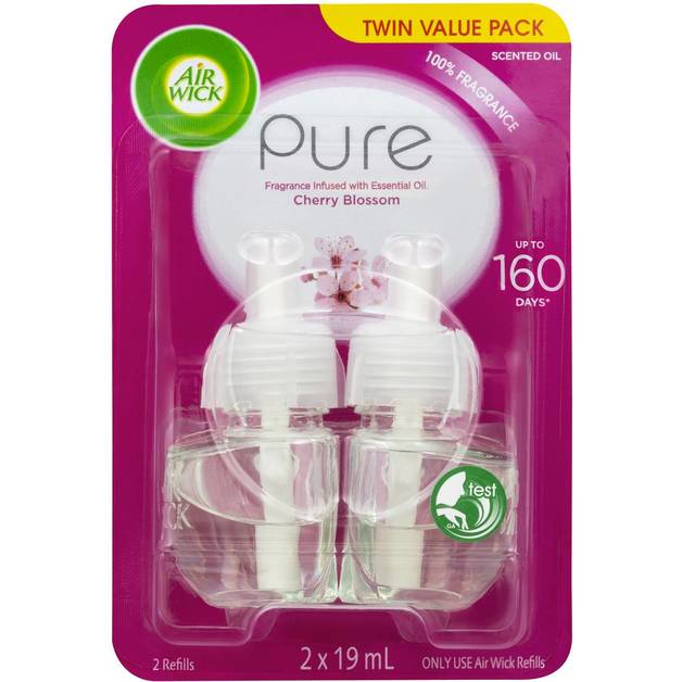 Airwick: Pure Le Scented Oil Plug In Soft Cherry Blossom 2 Pack (19mls)