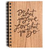 Cardtorial Wooden Journal - Do What You Love