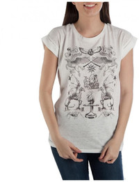Harry Potter Magical Creatures Rolled Sleeve T Shirt: XS