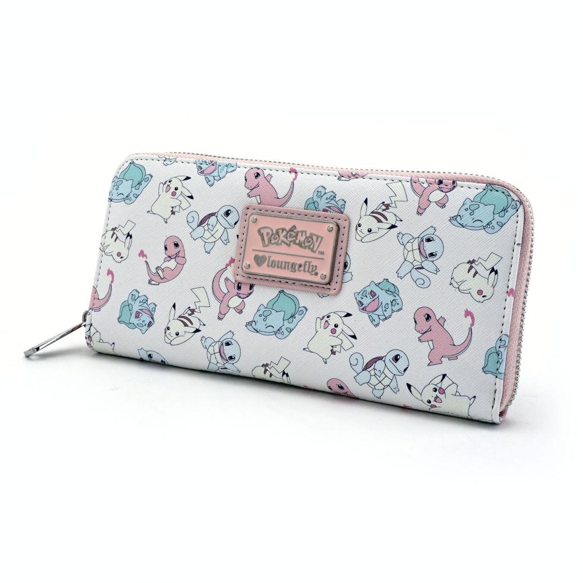 Loungefly Pokemon Starters Pastel Zip Around Wallet image