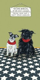 Little Dog Laughed: Chair Bed - Greeting Card image