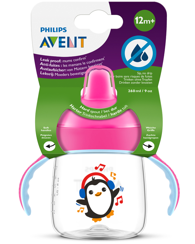 Avent: Sip No Drip - Pink (260ml)