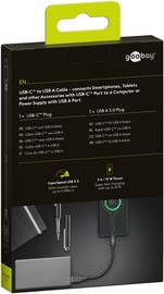 Goobay: USB-C to USB-A Cable (0.15m) - Black