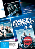 The Fast And Furious 4 - 6 on DVD