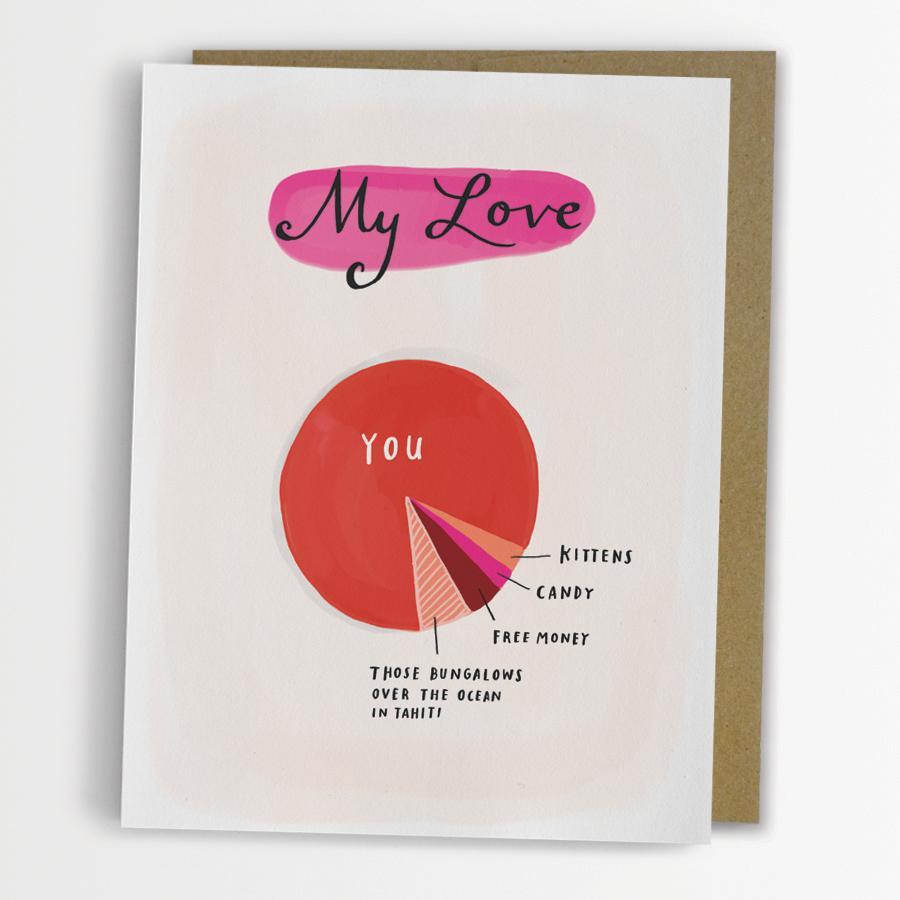 Emily McDowell - Love Pie Chart Gift Card