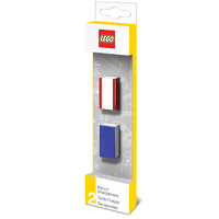 LEGO Pencil Sharpener 2 Pack - Blue & Red