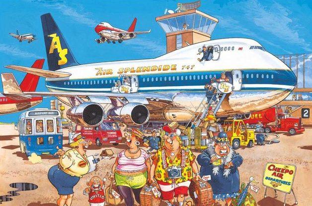 Wasgij: 500 Piece XL Puzzle - Retro Wasgij Original #2 (Happy Holidays)