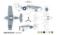 Airfix Grumman F4F-4 Wildcat Starter Set 1:72 Model Kit image