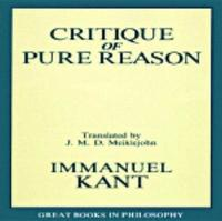 The Critique Of Pure Reason by Immanual Kant image