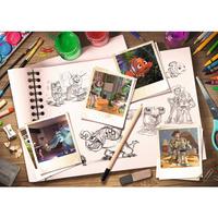 Ravensburger: Disney Pixar Sketches Puzzle (1000pc)