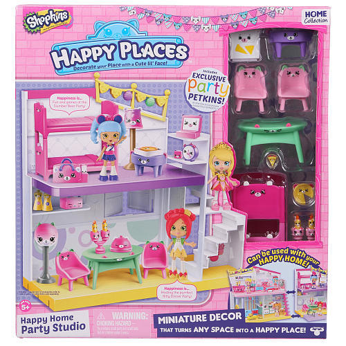 Shopkins Happy Places Extension Set Party Studio Toy