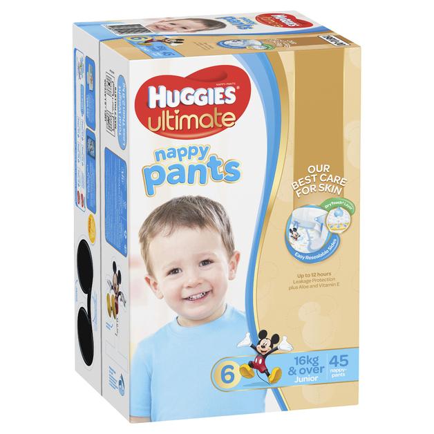 Huggies Ultimate Nappy Pants: Jumbo Pack - Junior Boy 16kg+ (45)