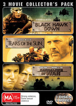 Black Hawk Down / Tears Of The Sun / Casualties Of War - 3 Movie Collector's Pack (3 Disc Set) on DVD