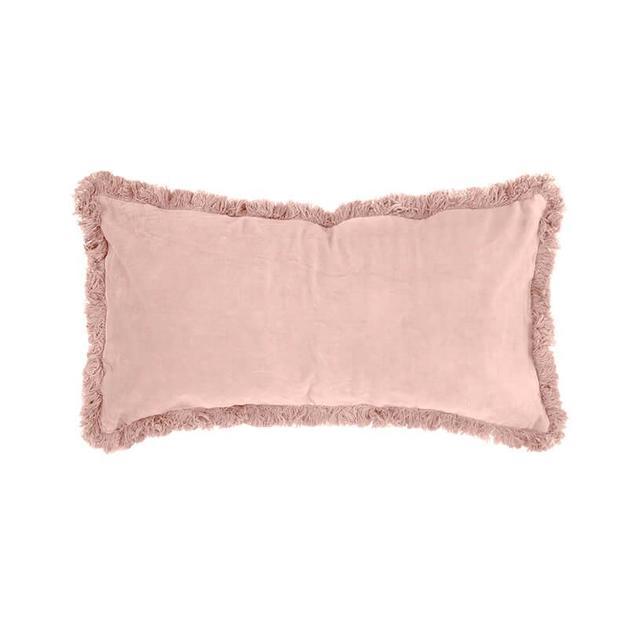 Bambury Rosewater Velvet Feather Filled Cushion
