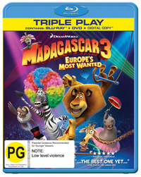Madagascar 3: Europe's Most Wanted on DVD, Blu-ray