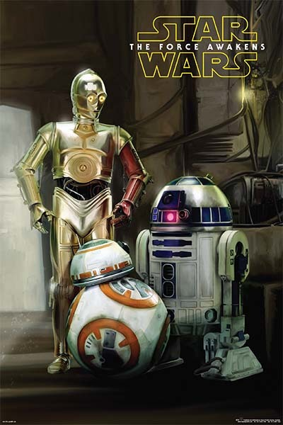 Star Wars: Episode VII The Force Awakens - Droids Wall Poster (360)