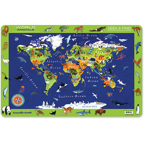 Crocodile Creek Placemat - World Animals