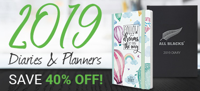 40% off Diaries