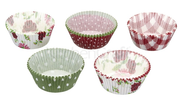 KitchenCraft: Sweetly Does It Cake Cases - Garden Party (Pack 250)