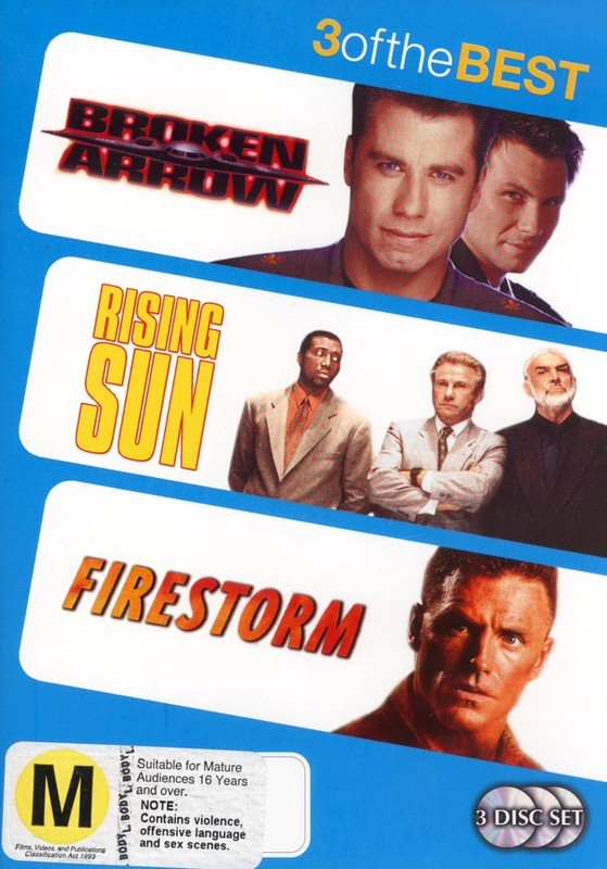 Broken Arrow (1995) / Rising Sun / Firestorm (1998) - 3 Of The Best (3 Disc Set) on DVD