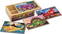 Melissa & Doug: Dinosaur Jigsaw Puzzles in a Box