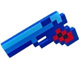 Minecraft Style 8-Bit Blue Pixel Foam Gun