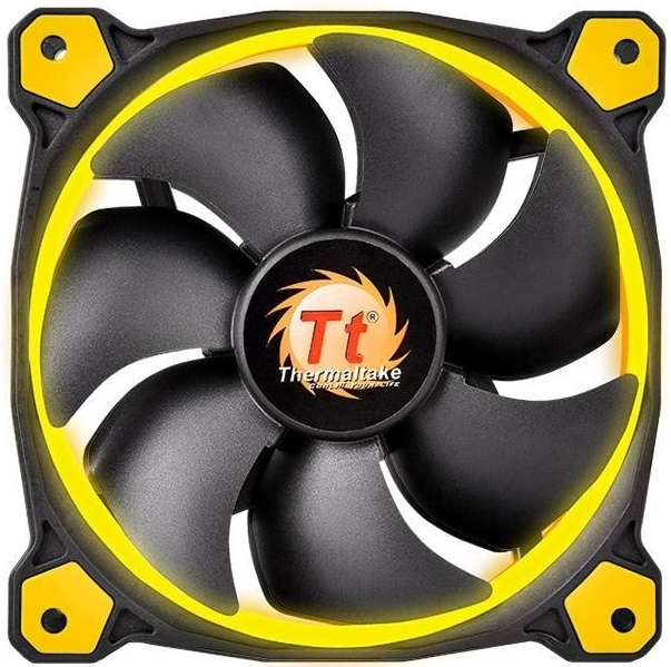 140mm Thermaltake Riing 14 High Static Pressure LED Radiator Fan - Yellow