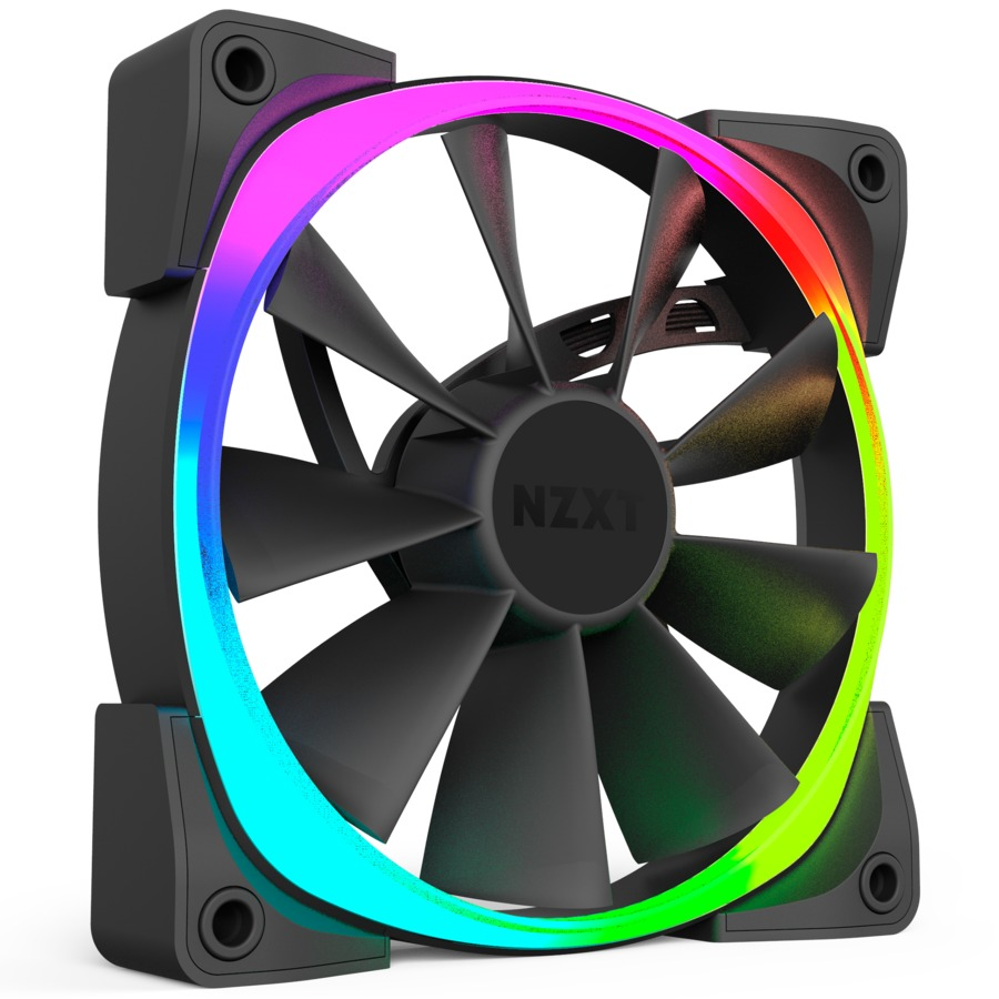120mm NZXT Aer RGB Digitally Controlled RGB LED Fan for Hue+ (Triple Pack) image