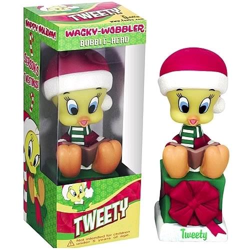 Looney Tunes: Tweety Bird - Christmas Wacky Wobbler Vinyl Figure