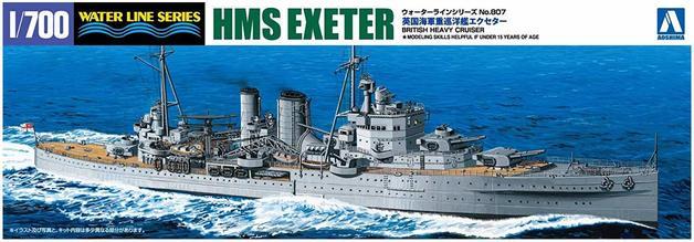Aoshima: 1/700 HMS Exeter - Model Kit
